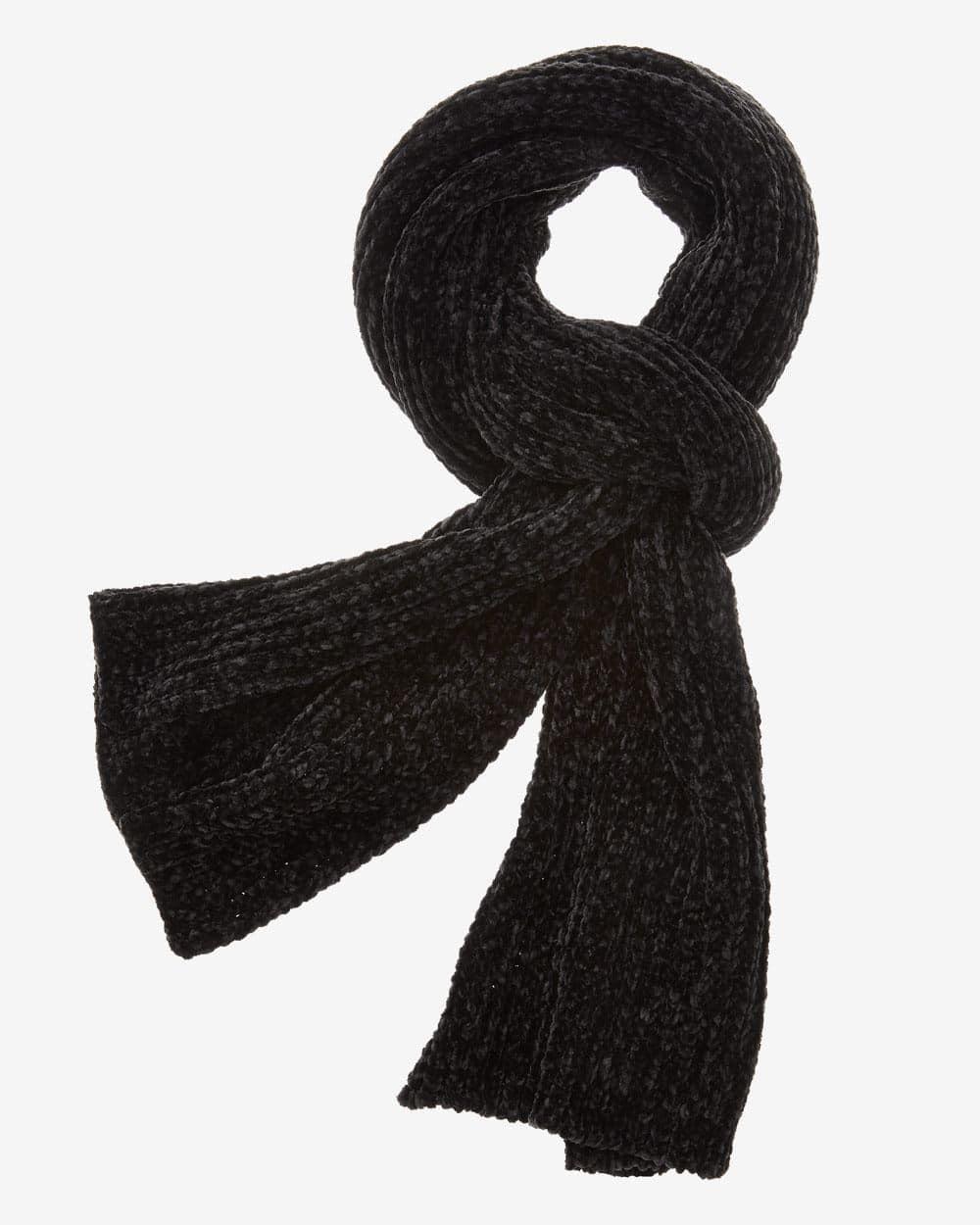 Écharpe en tricot de velours