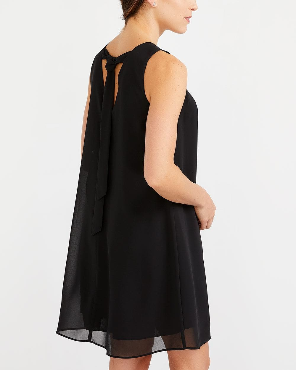 Sleeveless Back Tie Dress