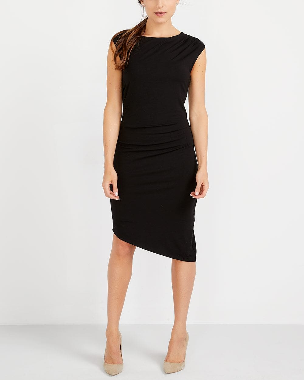 Asymmetric Hem Bodycon Dress