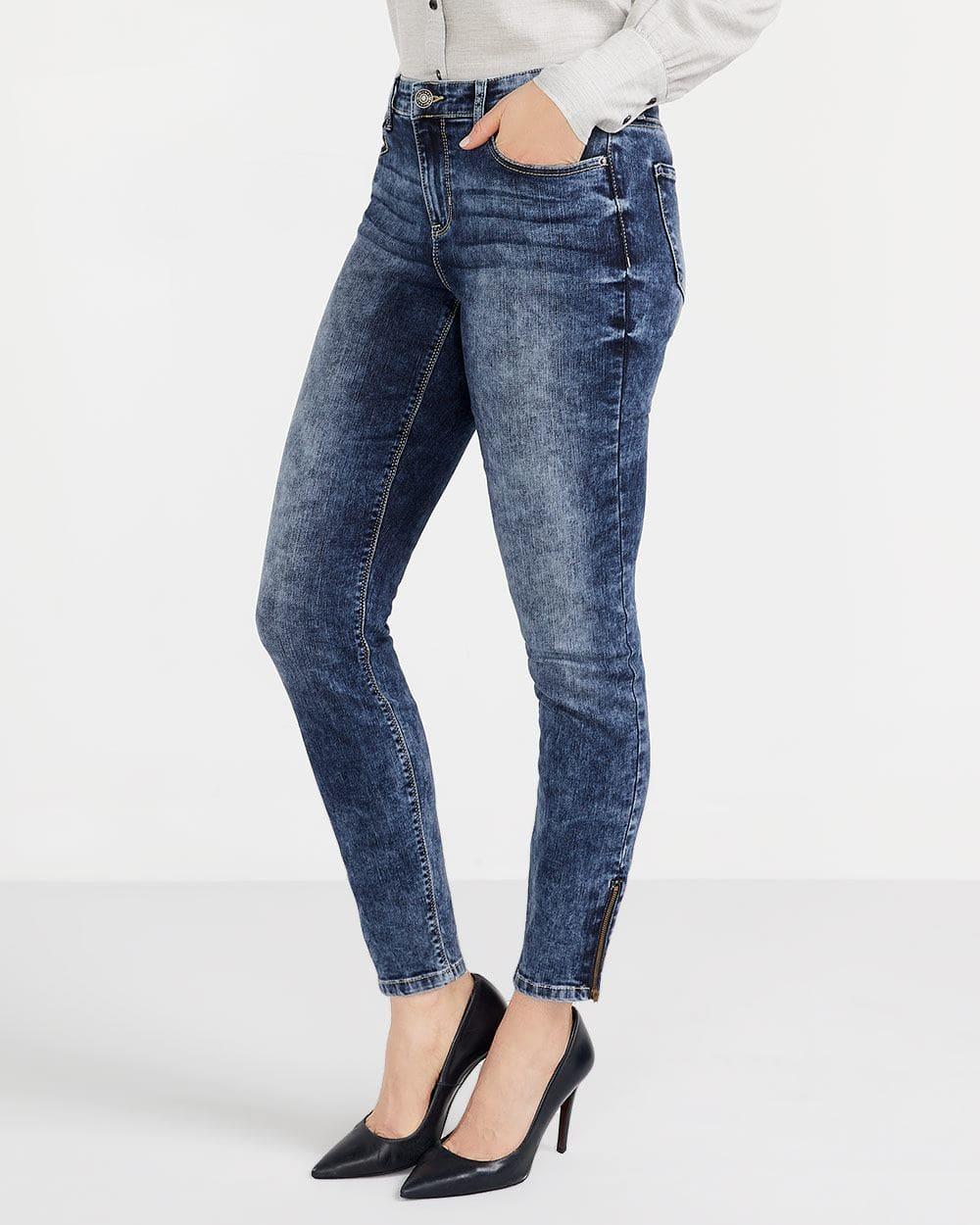 Tall Zip Hem Skinny Jeans