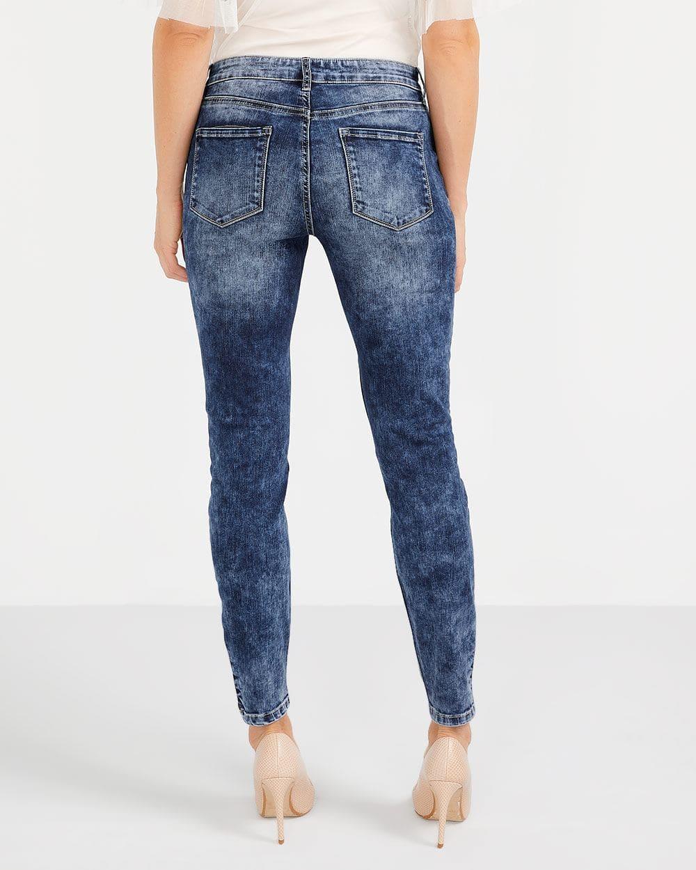 Jeans skinny à ourlets à glissière Petite
