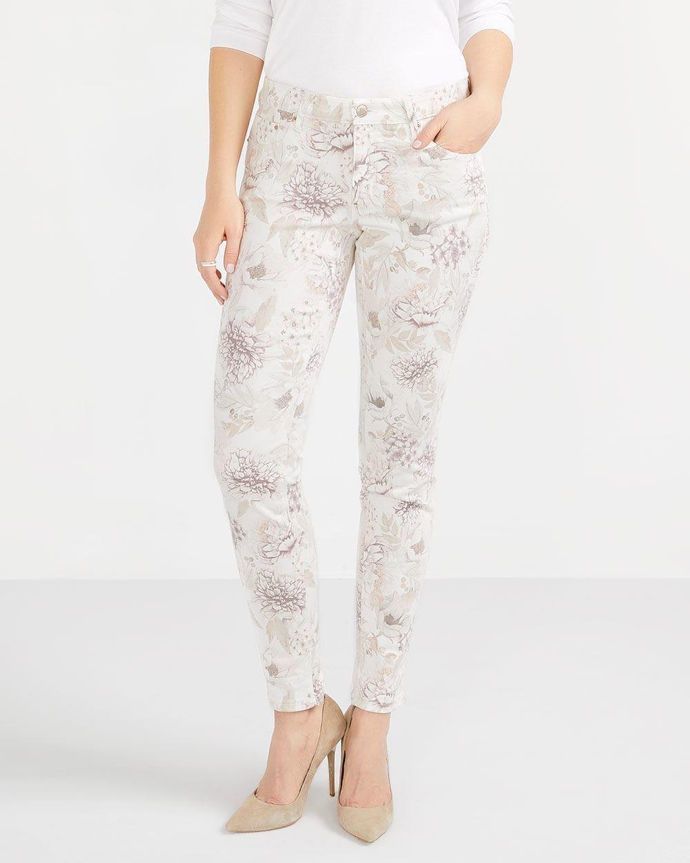 Petite Printed Skinny Jeans
