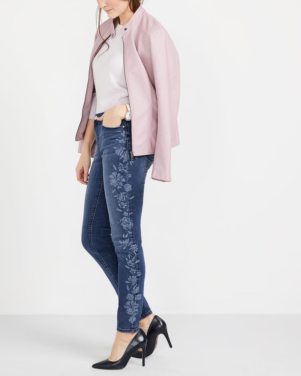 Jeans skinny à motif Long
