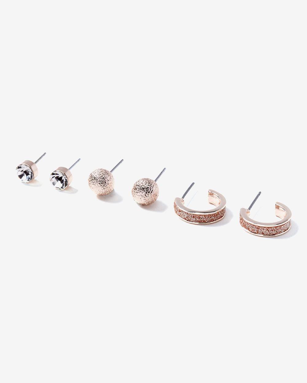 Ensemble de 3 paires de boutons d'oreilles