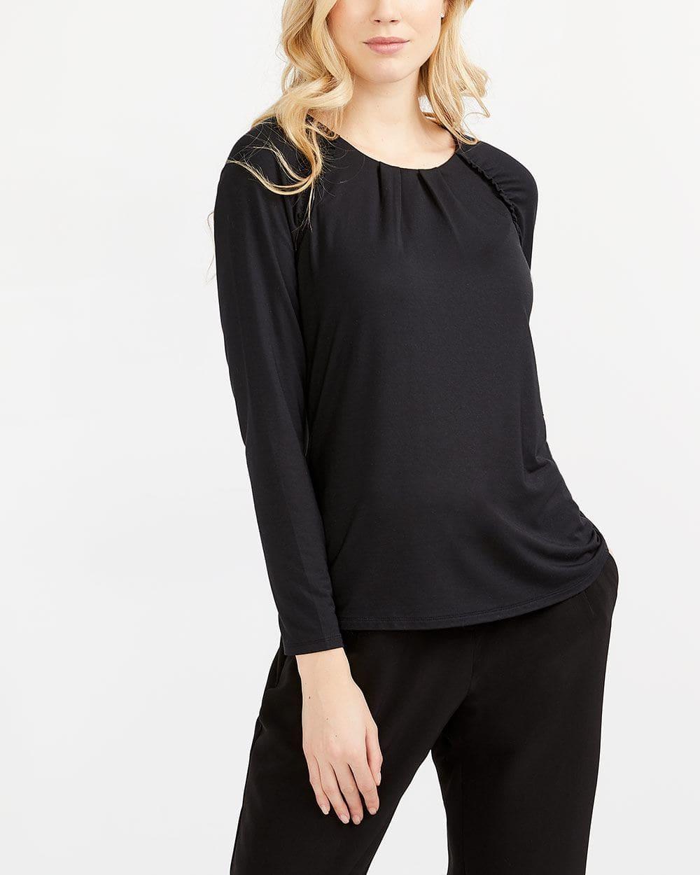 Willow & Thread Ruched Raglan Sleeve Top