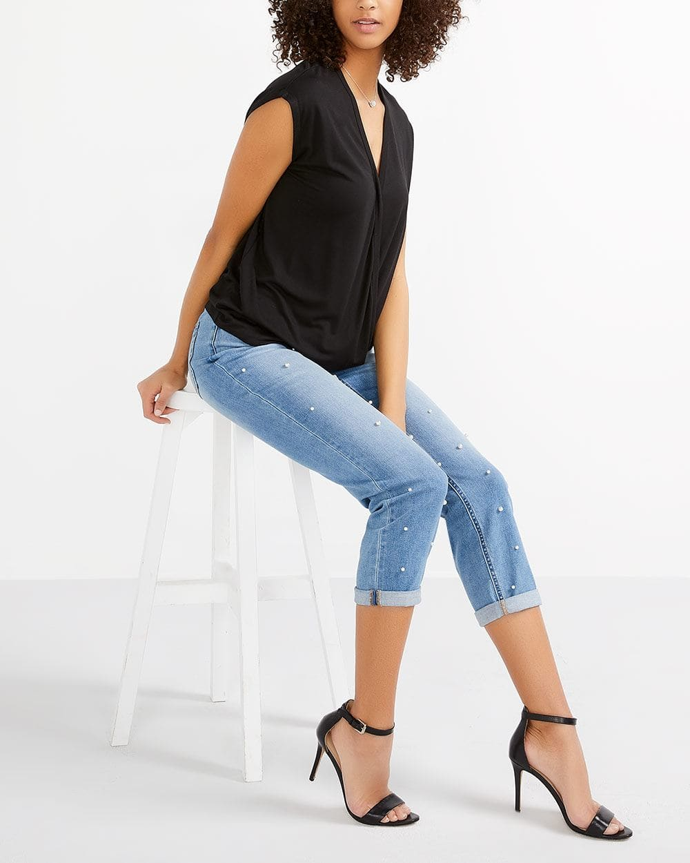 Cap Sleeve Wrap Top