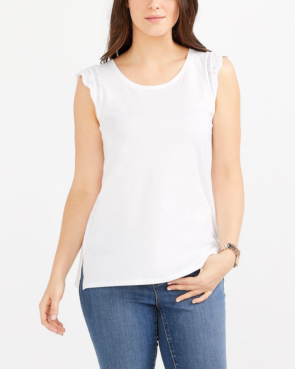 T-shirt avec dentelle crochetée