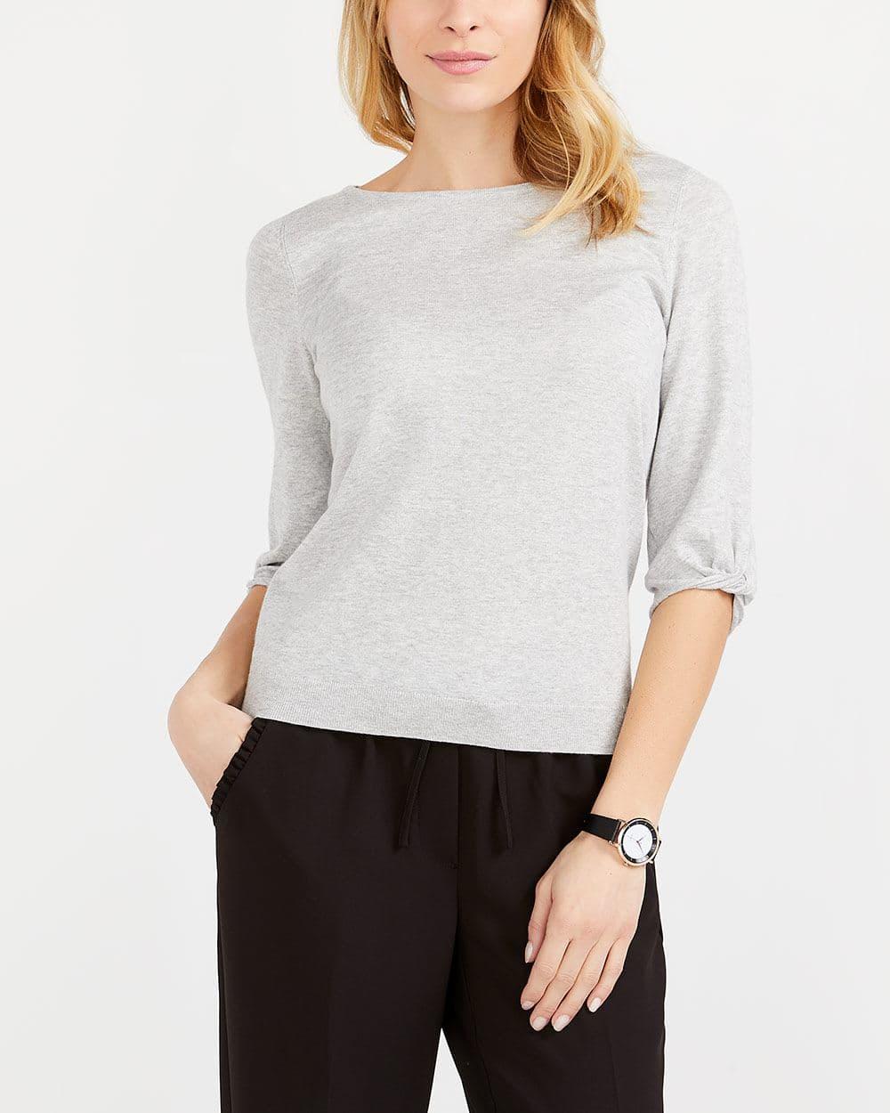 Twist ¾ Sleeve Sweater
