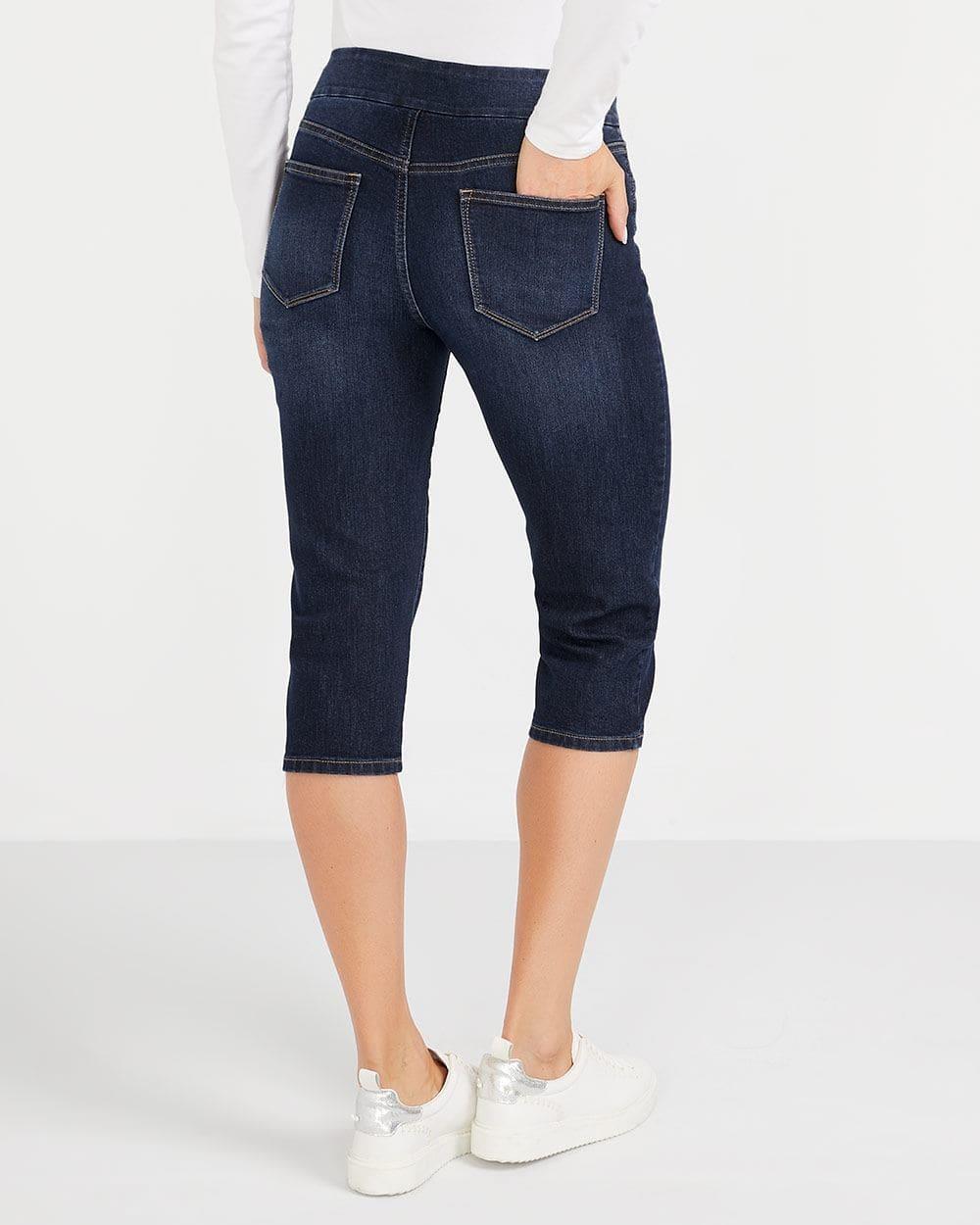 Dark Wash Capri Jeans