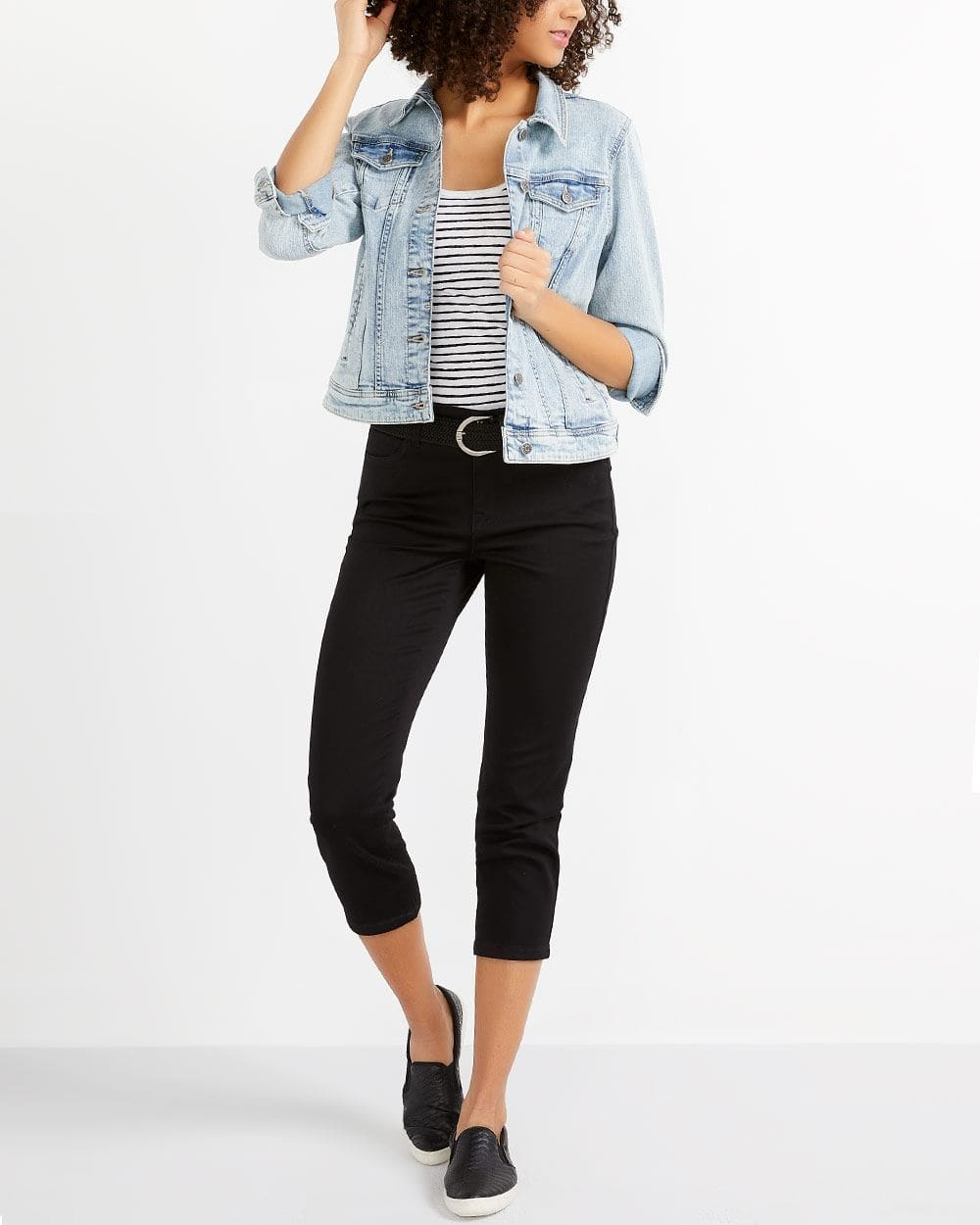 The Signature Soft Cropped Black Jeans