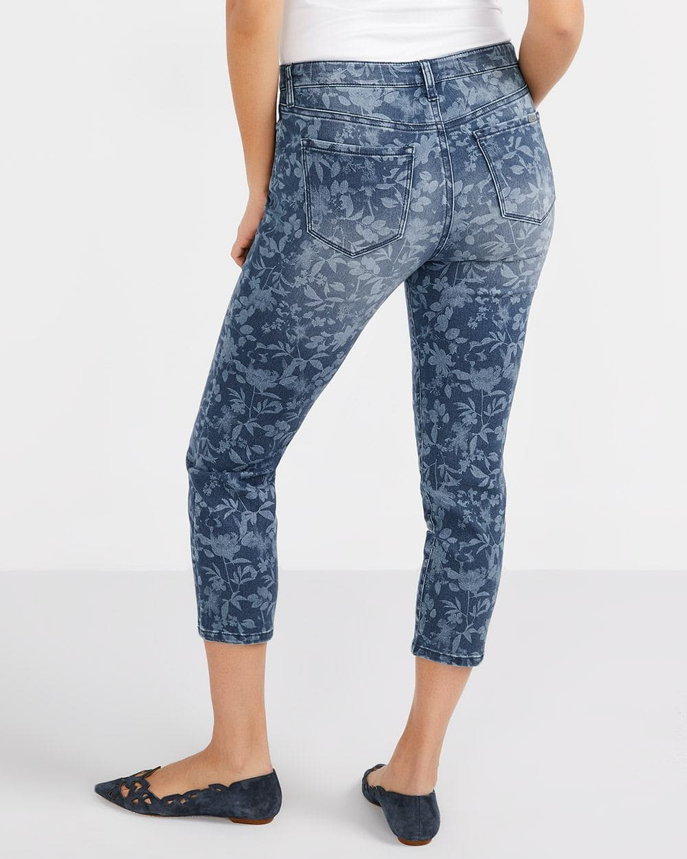 The Signature Soft Laser Print Cropped Jeans