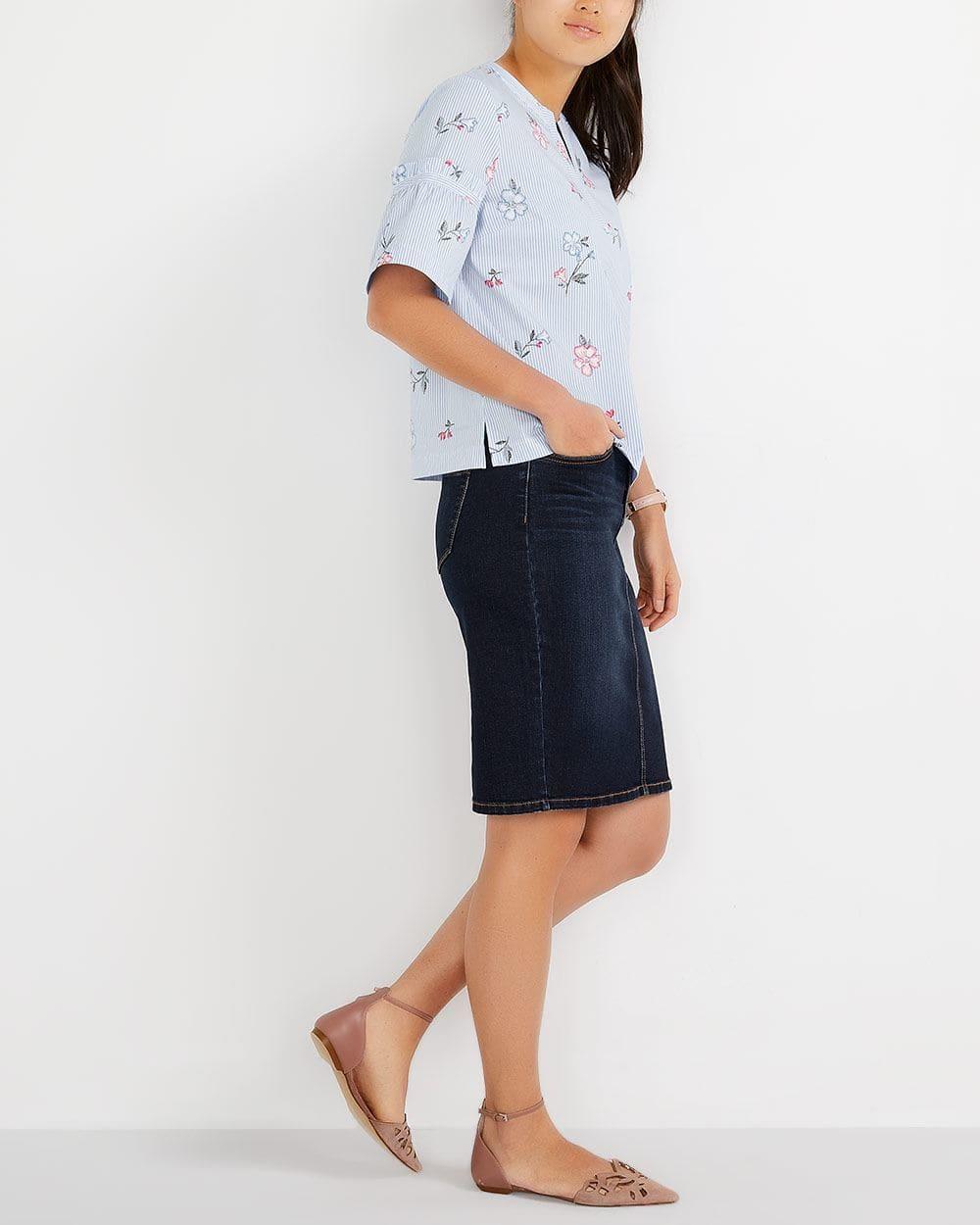 5-Pocket Denim Pencil Skirt