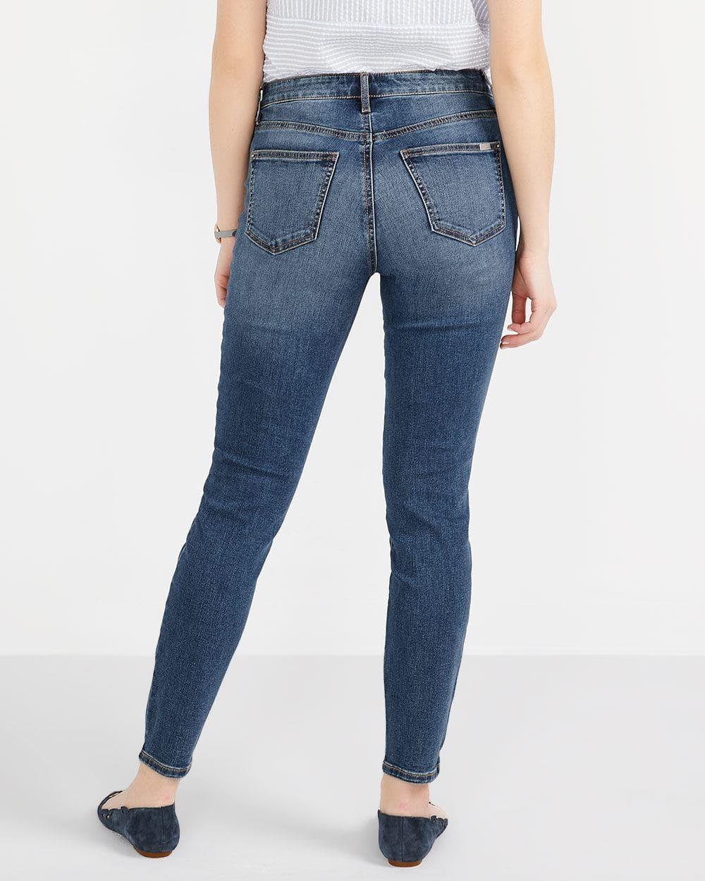 Tall Step Hem Skinny Ankle Jeans