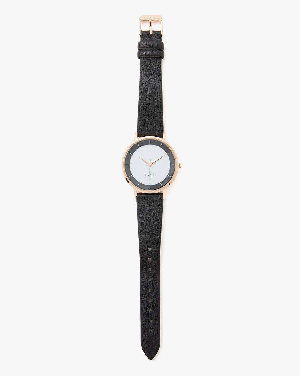 Black & White Dial Wristwatch