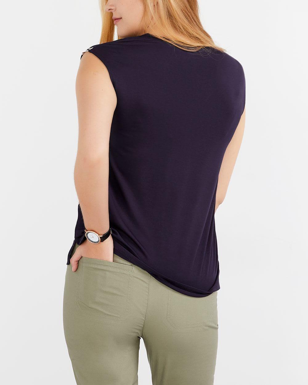 T-shirt imprimé bimatière