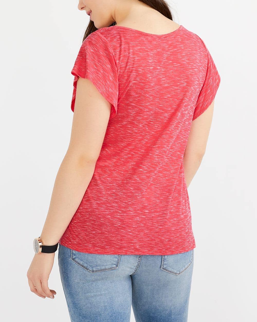 T-shirt chiné à manches flûte