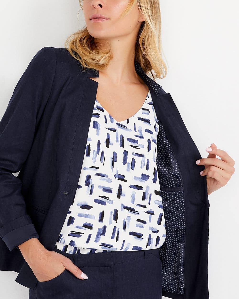 Willow & Thread Linen Blend Blazer