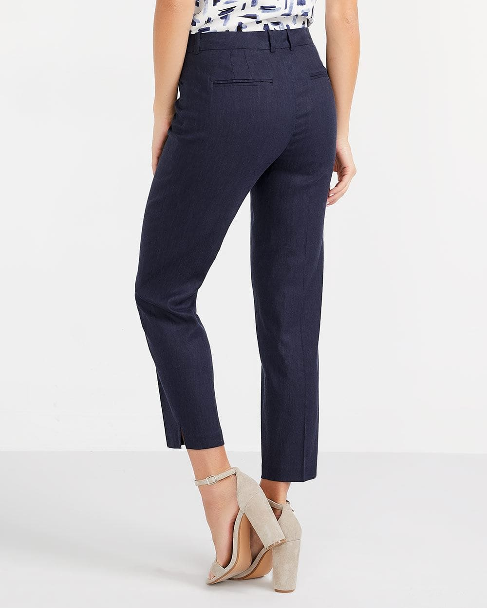 Willow & Thread Linen Blend Ankle Pants