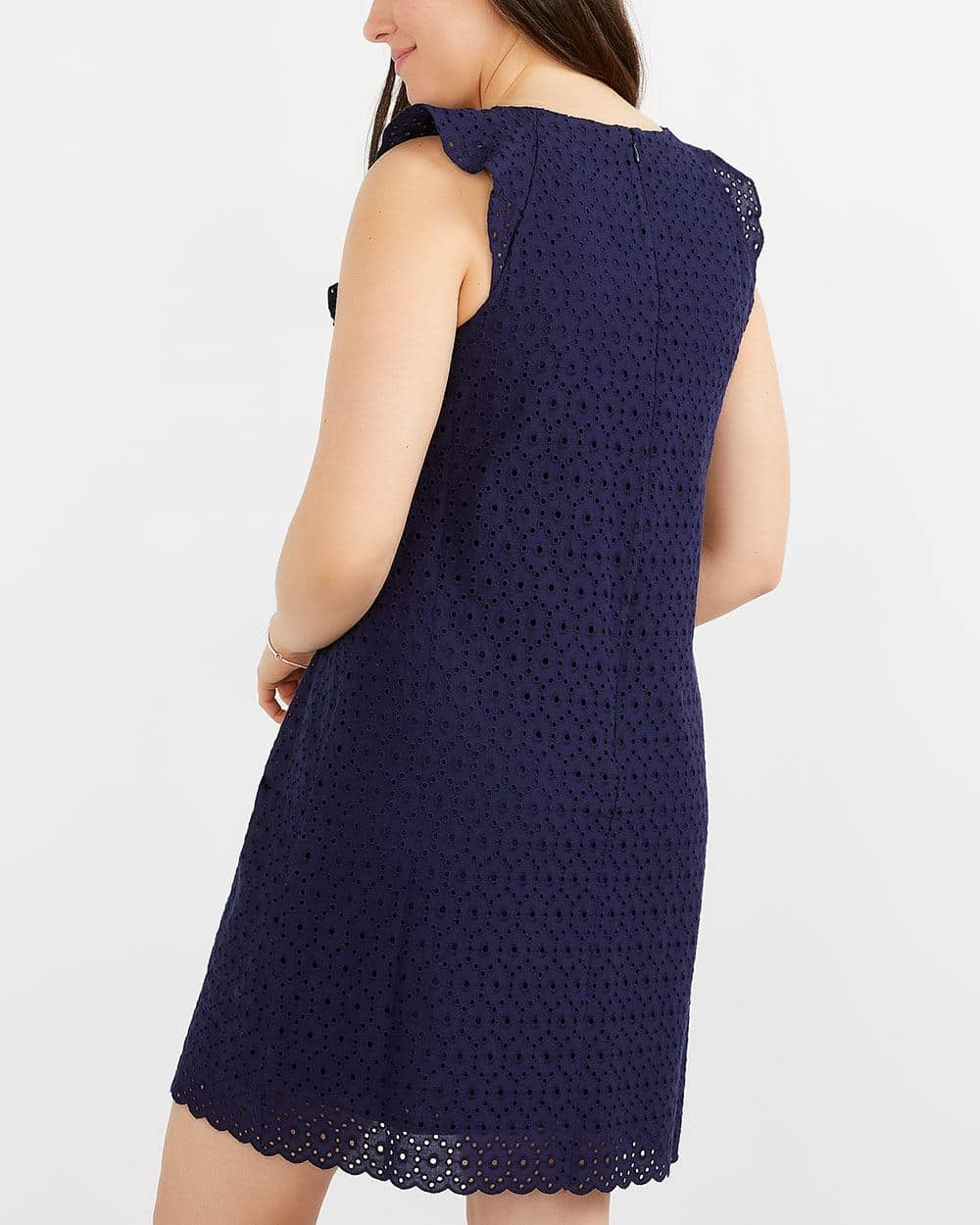 Eyelet Dress with Ruffles at Shoulders