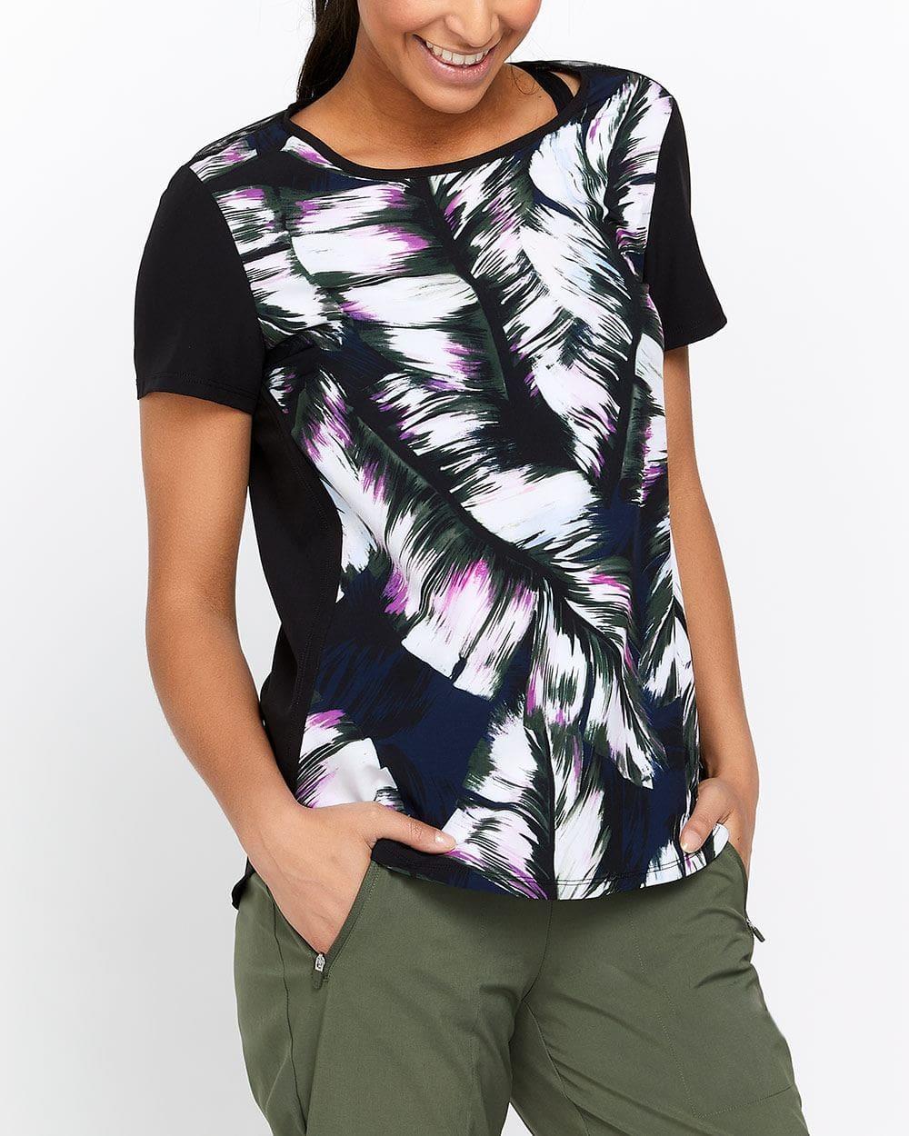 Hyba Printed Mesh T-Shirt