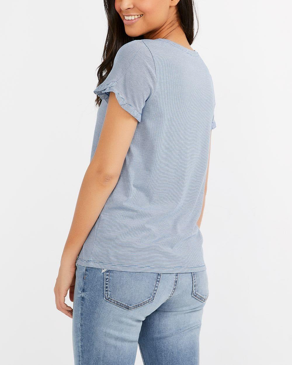 Applique Striped T-Shirt