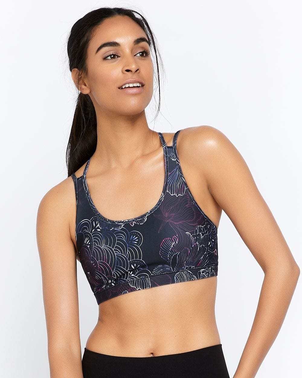 Hyba Printed Low-Support Sports Bra