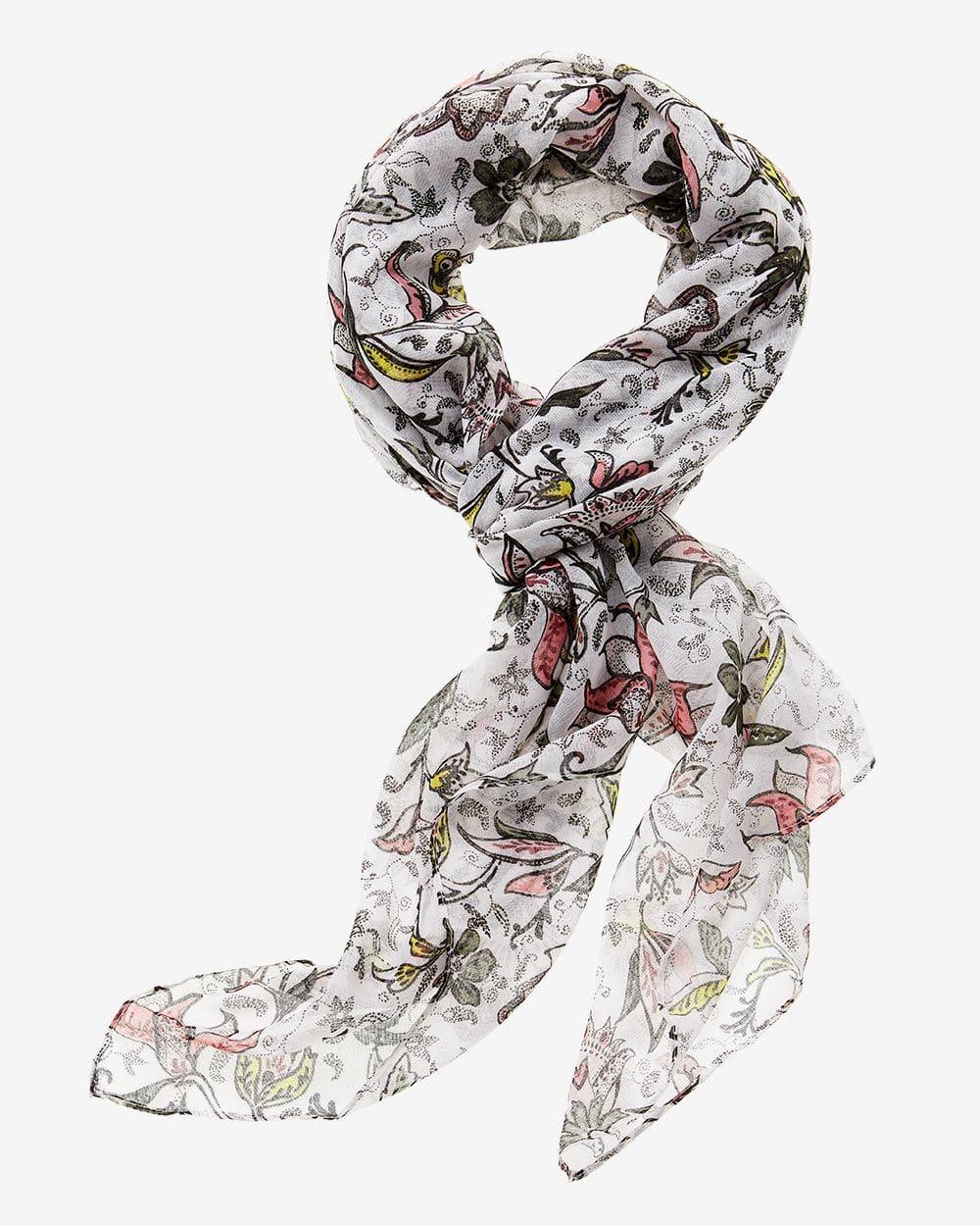 Foulard à imprimé fleuri