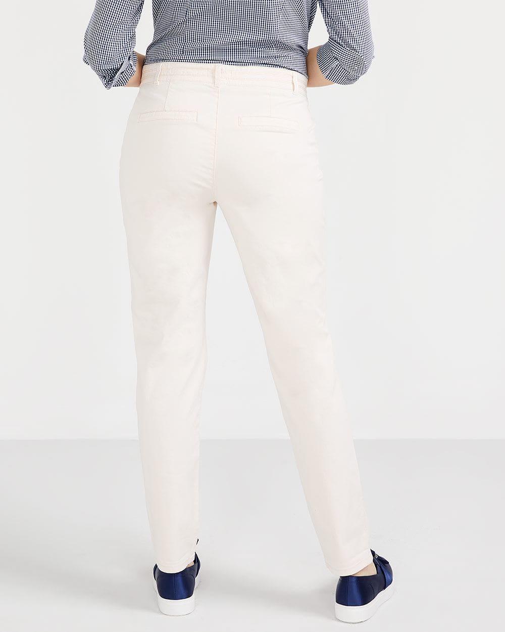 Pantalon uni Chino à jambe étroite