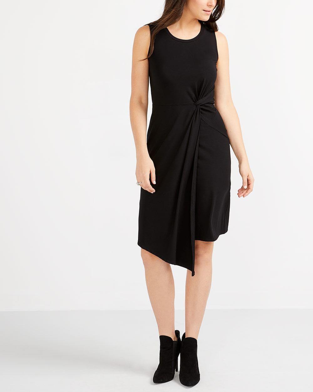 Sleeveless Front Knot Dress
