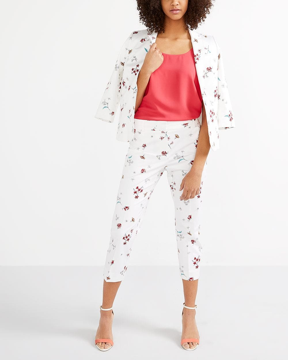 Cotton Blend Printed Cropped
