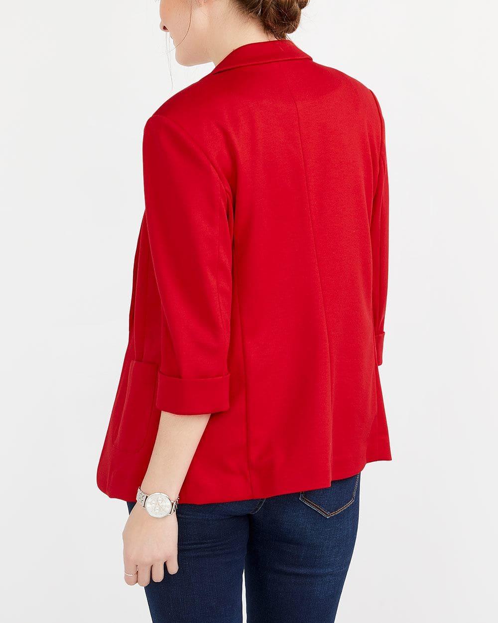 Veston ouvert avec poches plaquées