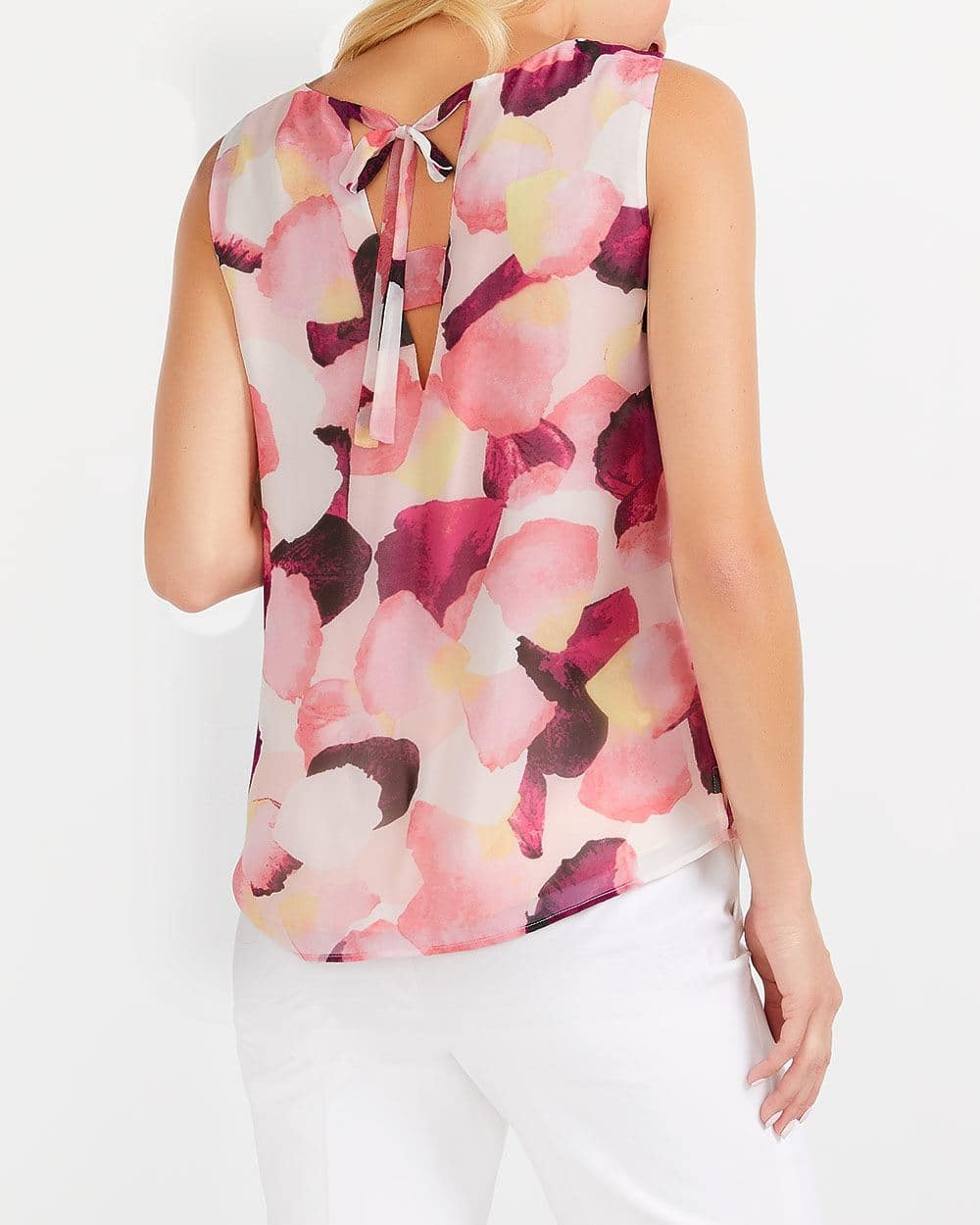 Willow & Thread Back Detail Printed Blouse