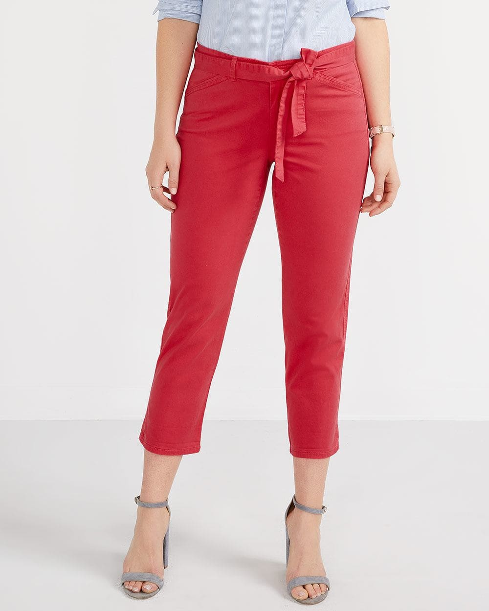 The Belt Cropped Chino