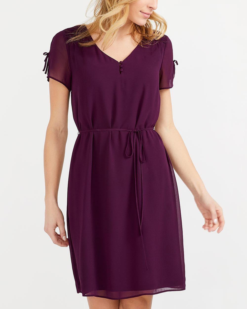 Short Slit Sleeve Dress
