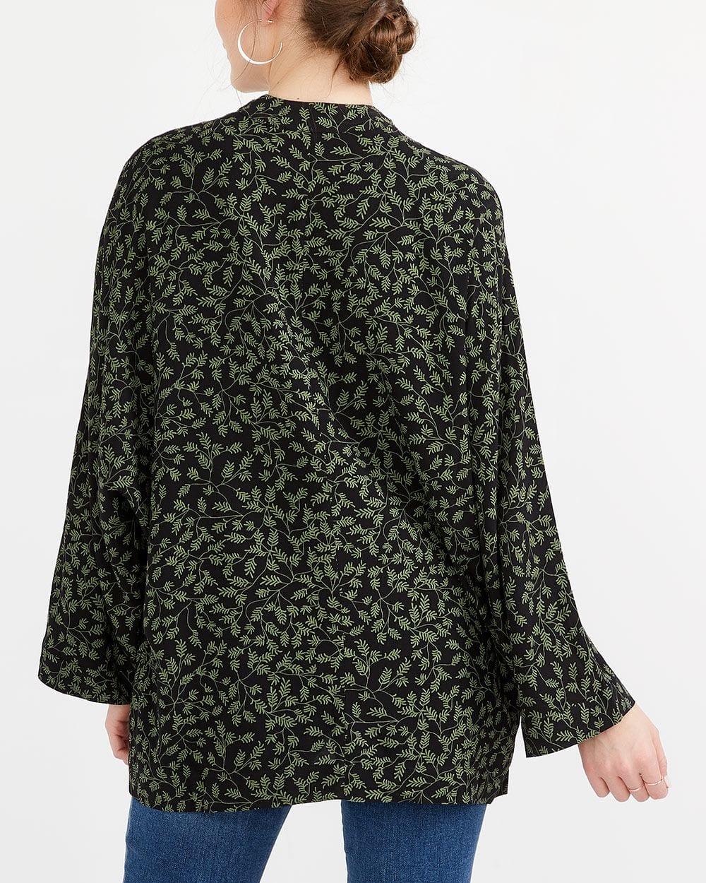Blouse kimono à manches ¾