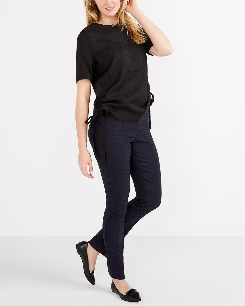 Short Sleeve Ruched Blouse