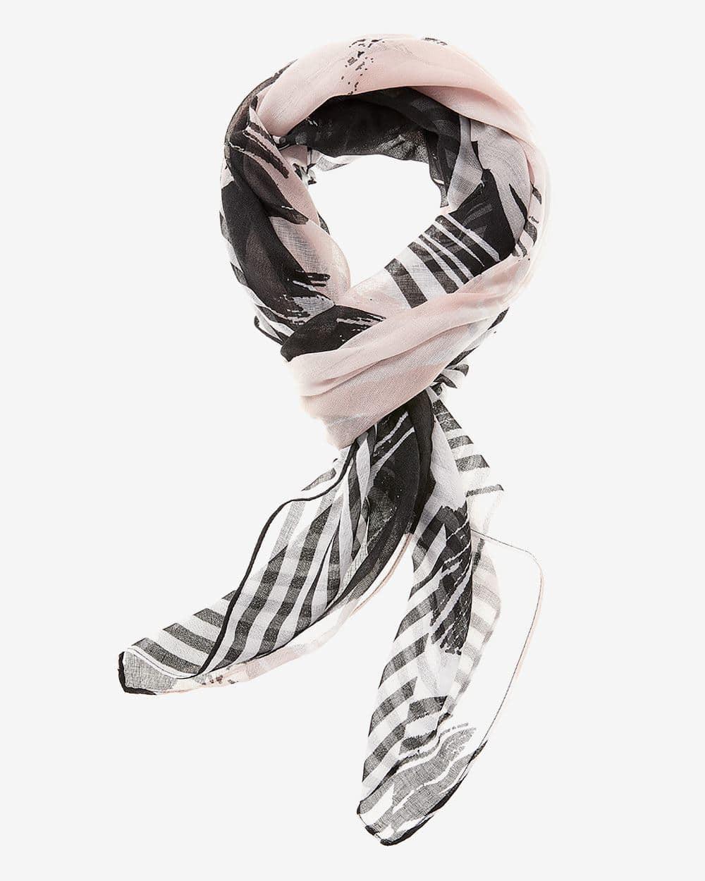 Foulard à motif abstrait