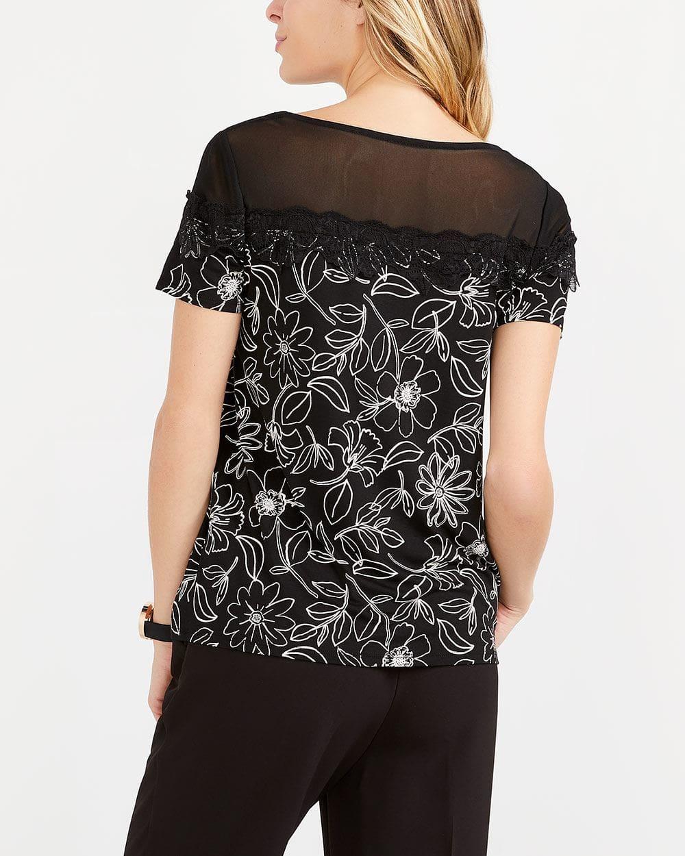 T-shirt imprimé à manches courtes