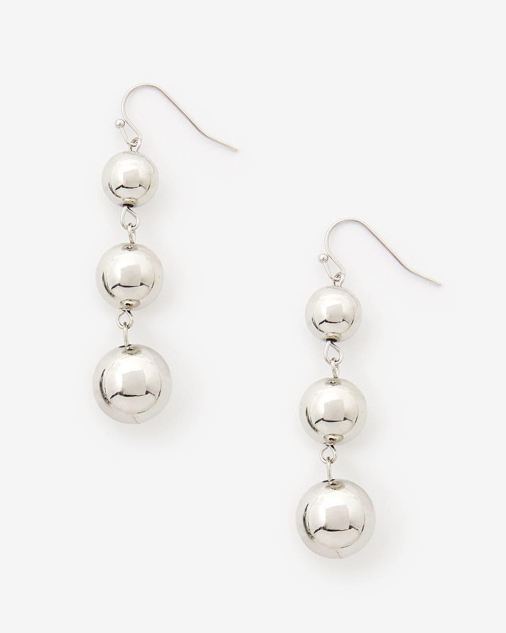 3-Ball Pendant Earrings