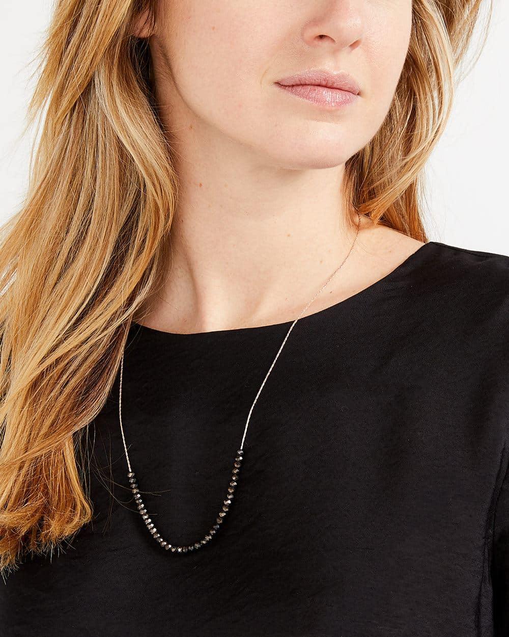 Gunmetal Stone Necklace