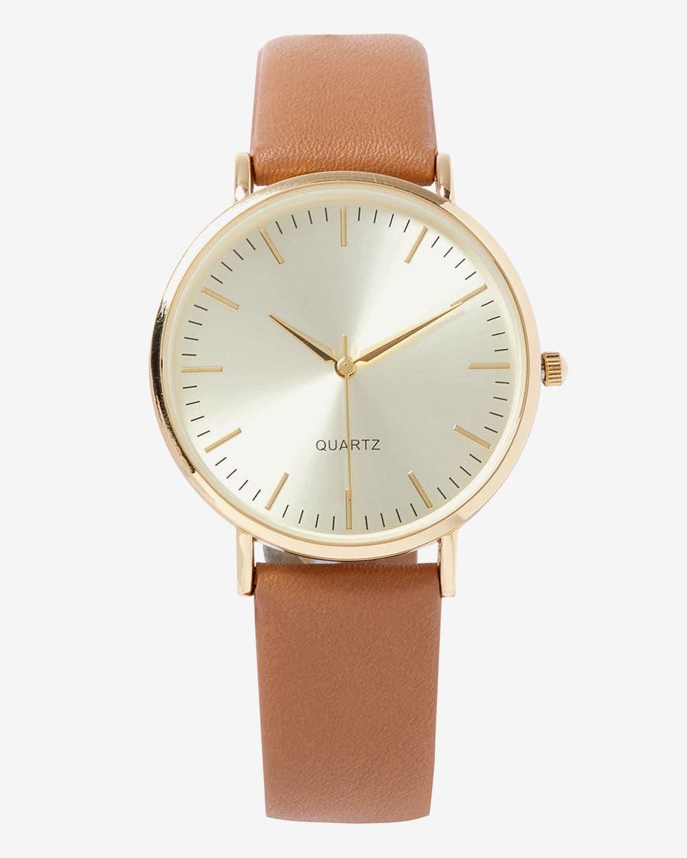 Montre-bracelet or et beige
