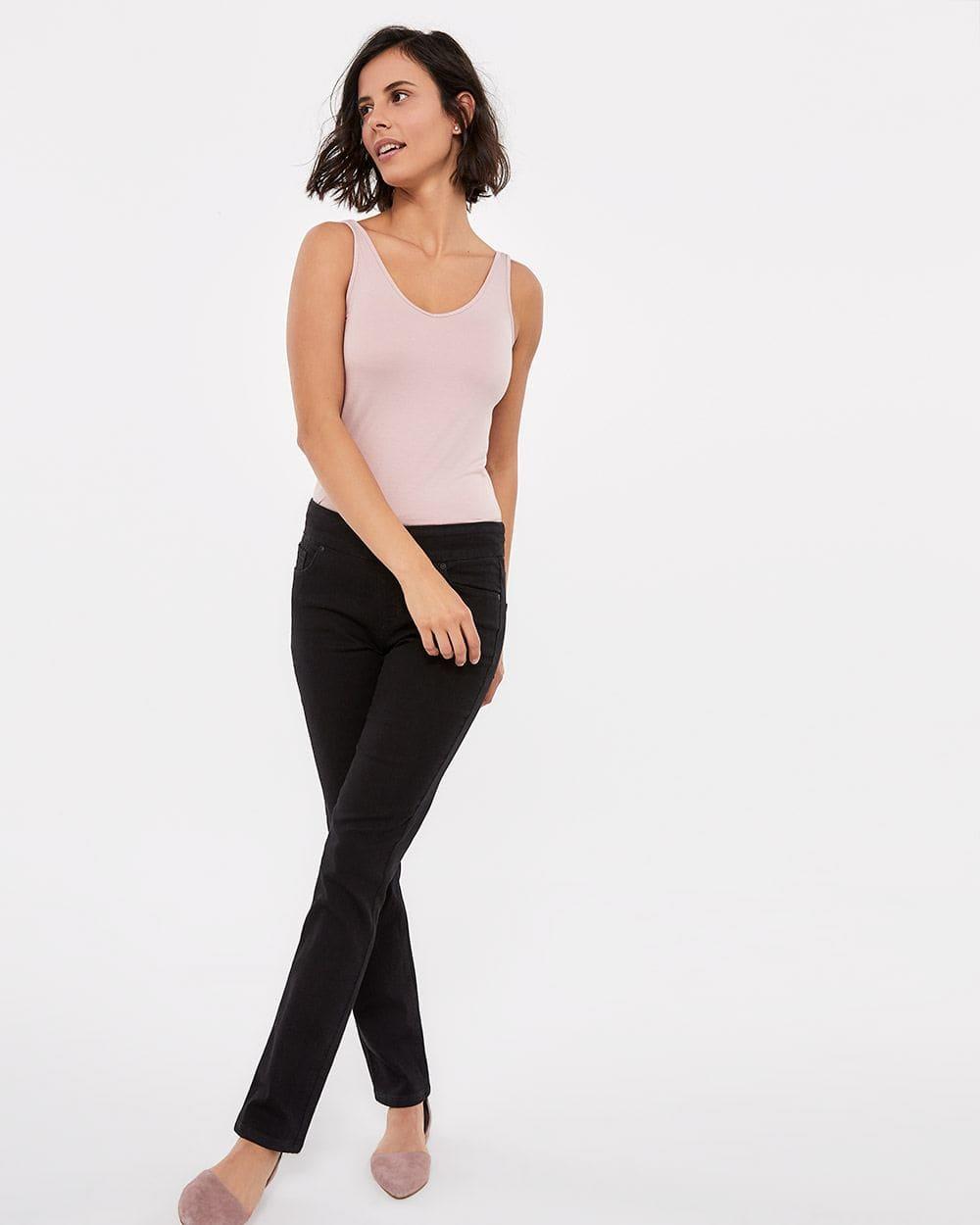 Jeans noir à jambe droite L'Authentique Confort Petite