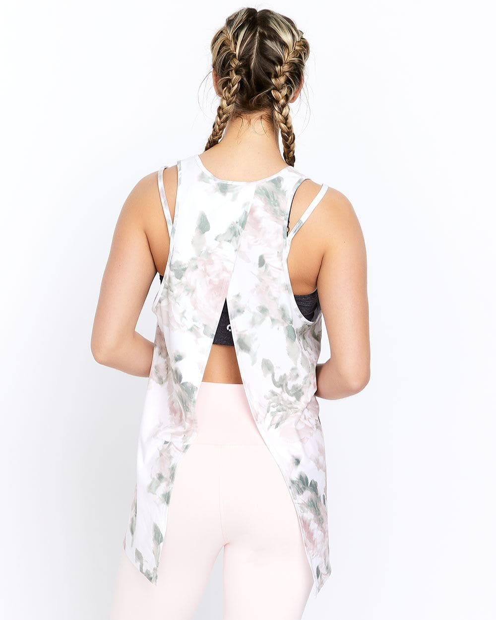 Hyba Printed Tank with Open Wrap Back