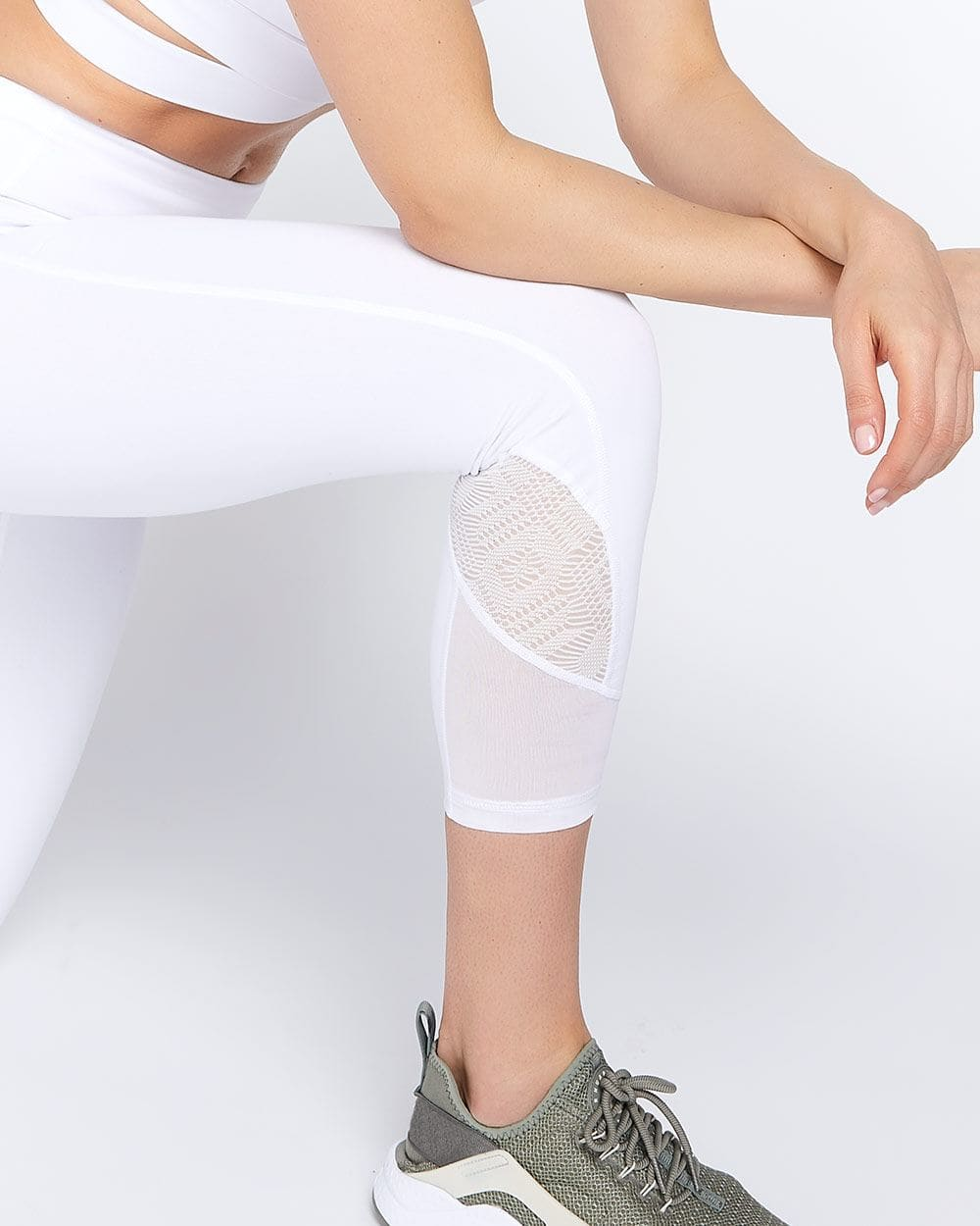 Hyba Cropped Legging with Mesh