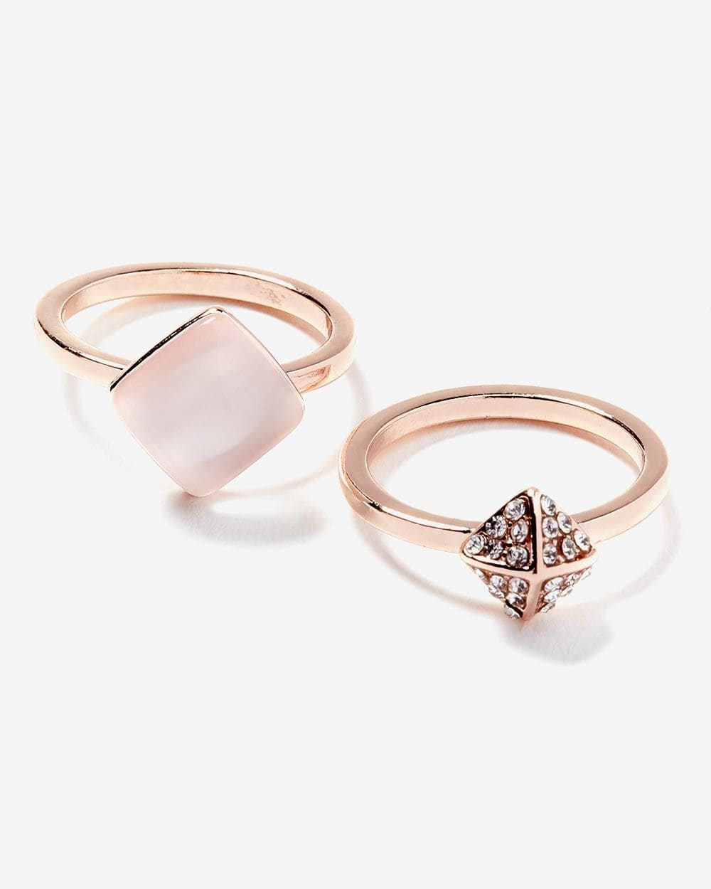 Set of 2 Geometric Rings