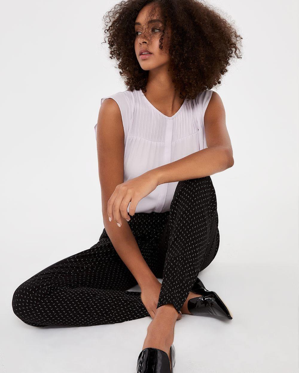 Pantalon skinny jacquard à la cheville L'Iconique