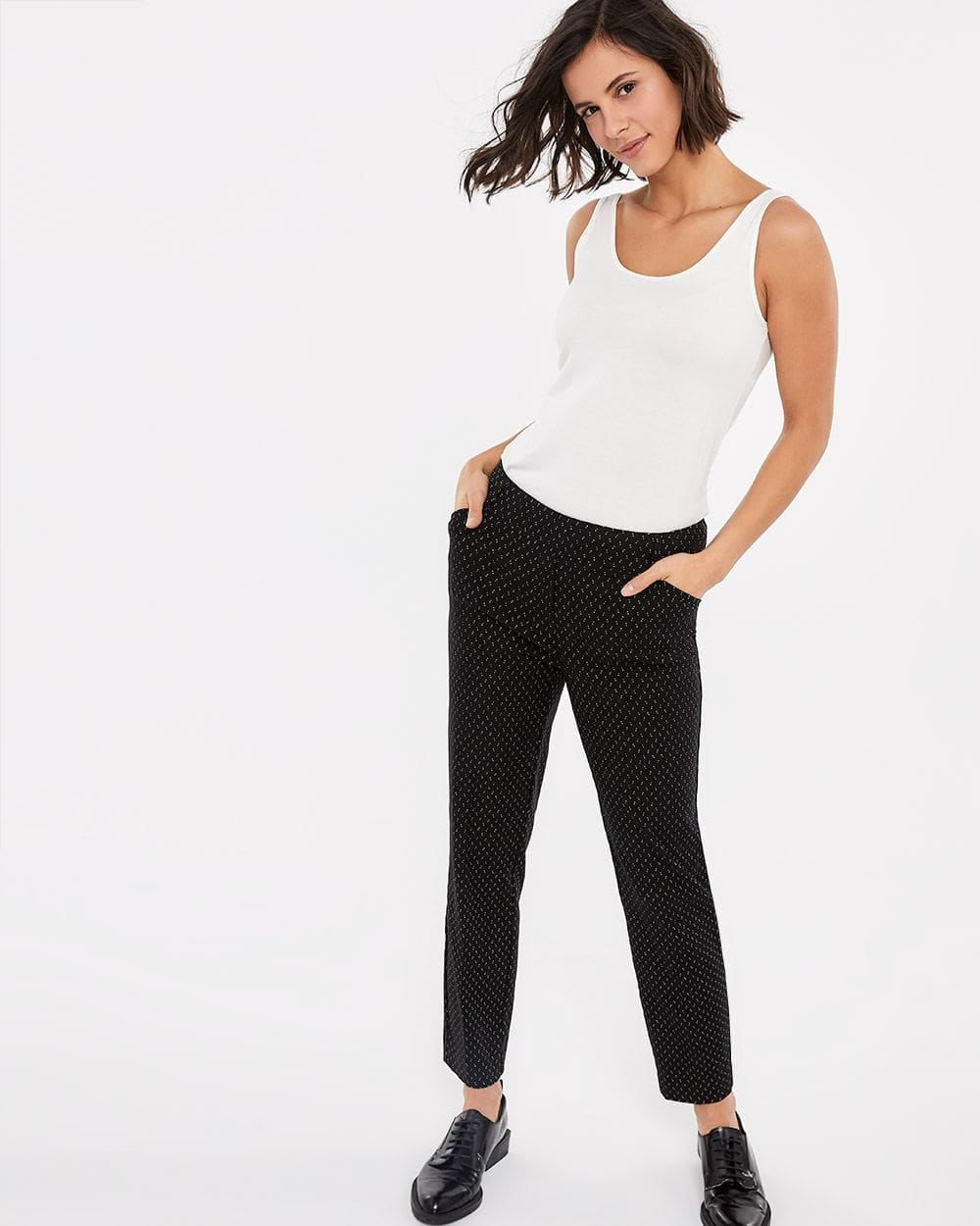 The Petite Iconic Skinny Jacquard Ankle Pants