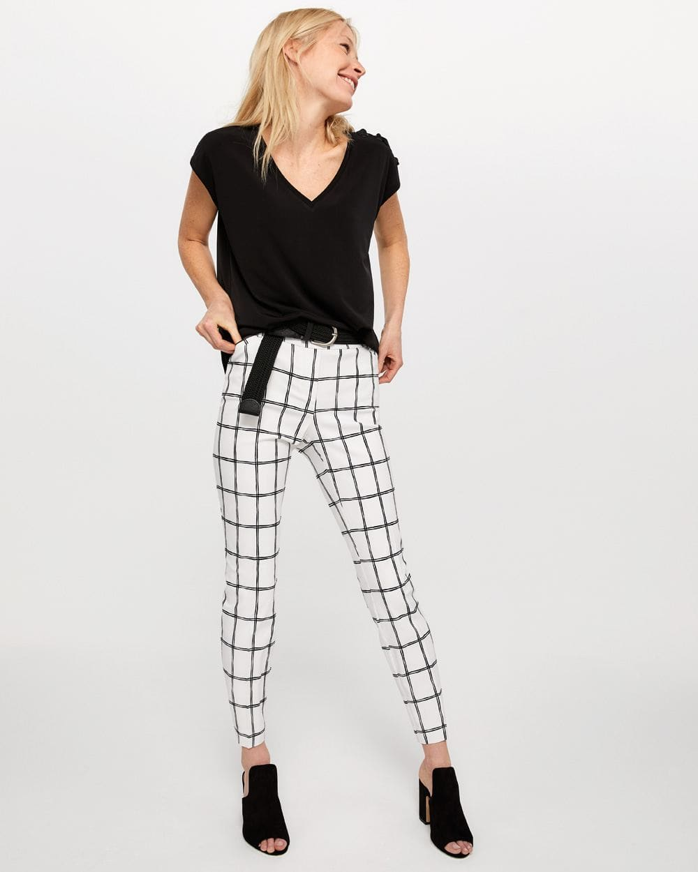 The Iconic Printed Ankle Pants