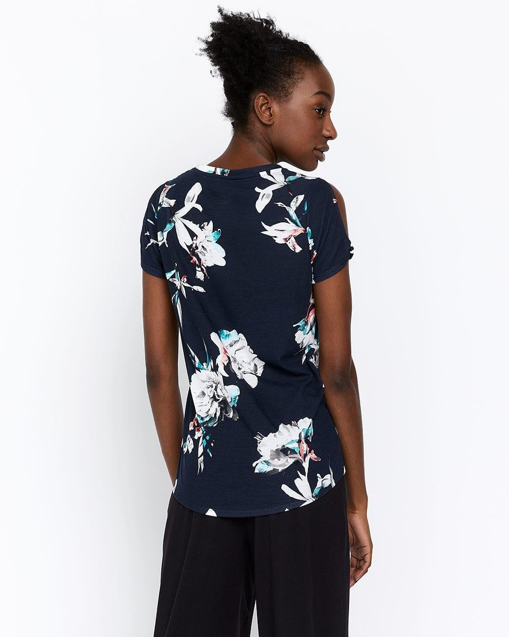 T-shirt avec ourlet roulé Hyba