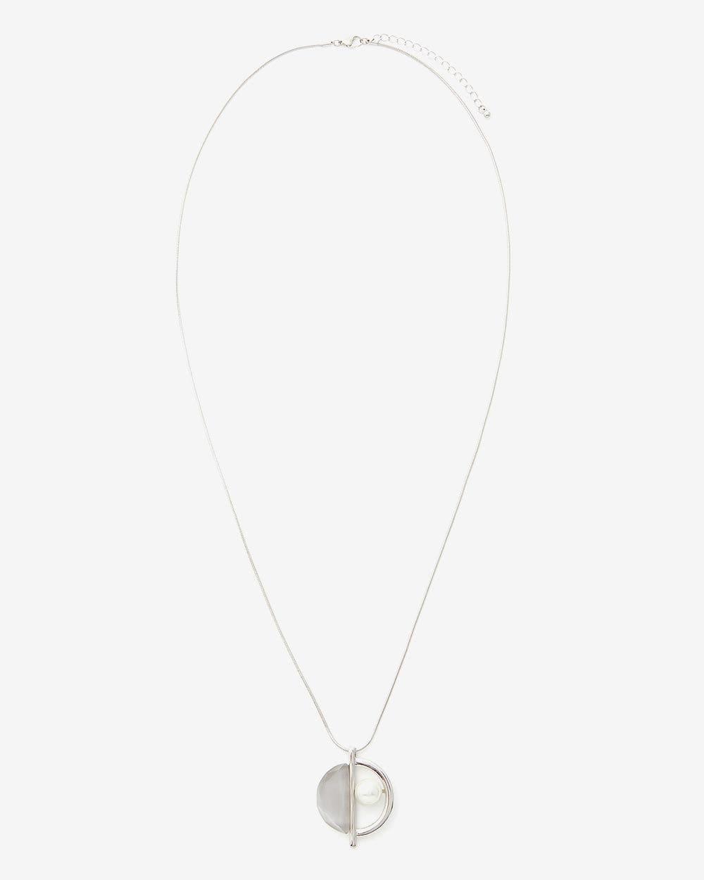 Pearl-Stone Pendant Necklace